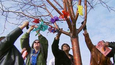 Victims for Justice Tree Adds Ribbon for Sex Trafficking