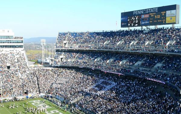 Beaver Stadium is shown during the Indiana game last November.