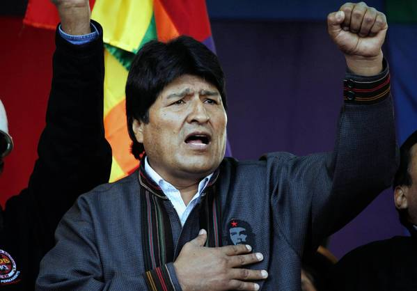 "Bolivian President Evo Morales, singing the national anthem at a May Day march in La Paz, has expelled USAID from his nation, complaining that Washington ""still has a mentality of domination and submission"" in the region."