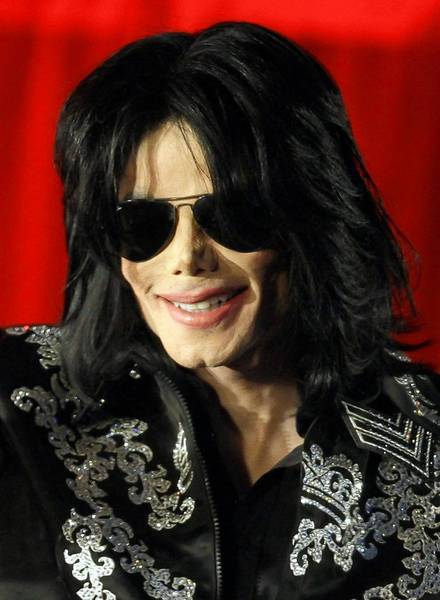Michael Jackson is shown at a news conference in London in March 2009.