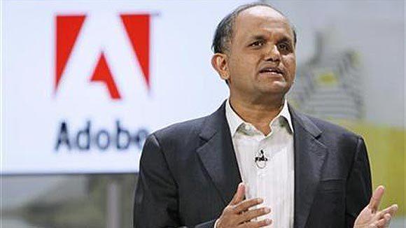 Adobe CEO Shantanu Narayen speaks in 2011.