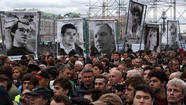 Protesters rally in Moscow's Bolotnaya Square.