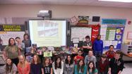 "Members of the Builders Club at Hometown Middle School in Oak Lawn and their families gave back to teens fighting cancer recently by sponsoring a ""Fill the Bin"" campaign to benefit the Pediatric Oncology Treasure Chest Foundation (POTCF). Hometown Middle School students and staff collected over 130 items as well as $215.00 in gift cards for teens fighting cancer. The Builders Club is a service organization looking to BUILD community (locally, nationally and world-wide) through serving others."