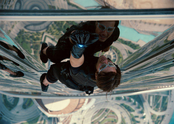 "Tom Cruise as secret agent Ethan Hunt in a scene from ""Mission: Impossible — Ghost Protocol."""