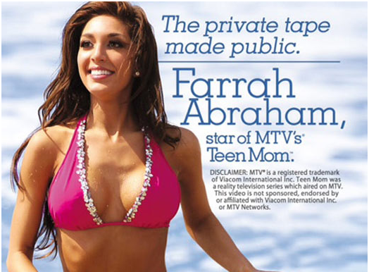 Cover of Farrah Abraham (Teen Mom) adult film