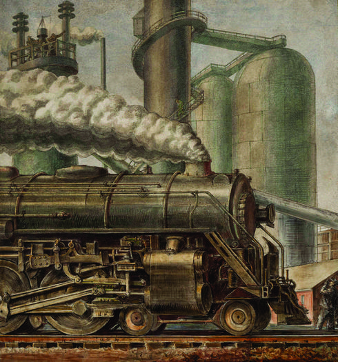 Reginald Marsh's The Locomotive from 1935