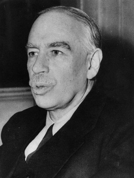 The influential British economist John Maynard Keynes, whose Keynsian policies are the bane of modern-day conservatives, in August 1945, less than a year before he died.