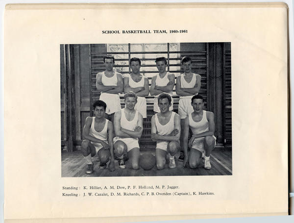Mick Jagger's school basketball team photo