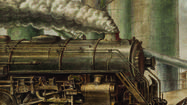 Once the great estate of a railroad tycoon, the Huntington Library, Art Collections and Botanical Gardens has just become home to a painting of a powerful locomotive. Last week a group of art collectors helped the Huntington buy a 1935 Reginald Marsh painting of a hulking locomotive at work, belching copious amounts of steam.