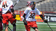 Scoring goals behind his back or behind his head comes naturally for Maryland's Jay Carlson. He was taught to shoot every way possible by his father Chip, who played at Johns Hopkins.