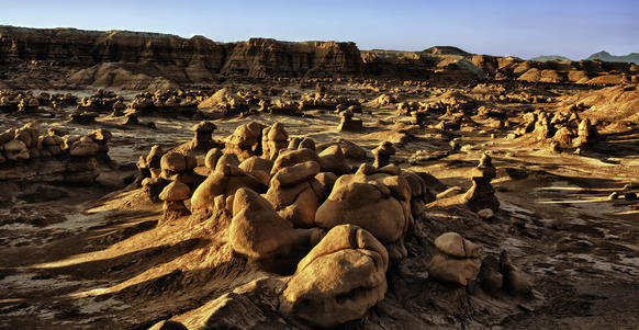 Goblin Valley State Park in Utah, near the Arches and Canyonlands national parks, is home to sandstone formations that resemble goblins.