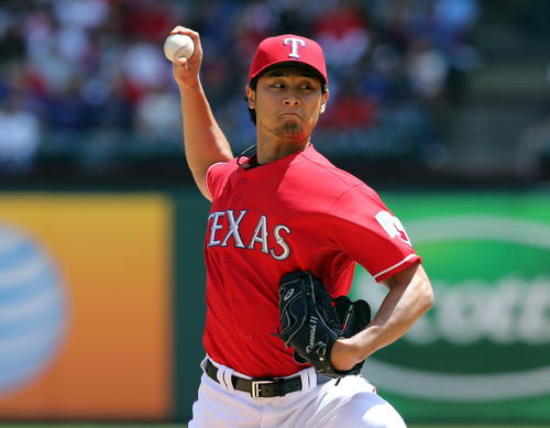 Ran their top three pitchers at the Red Sox in an impressive weekend sweep started by Derek Holland and finished by Yu Darvish, with Alexi Ogando in between. Looking very smart for letting Josh Hamilton get on free-agent market.