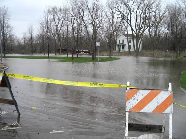 This area near the Graue Mills Country Condominiums flooded in April.