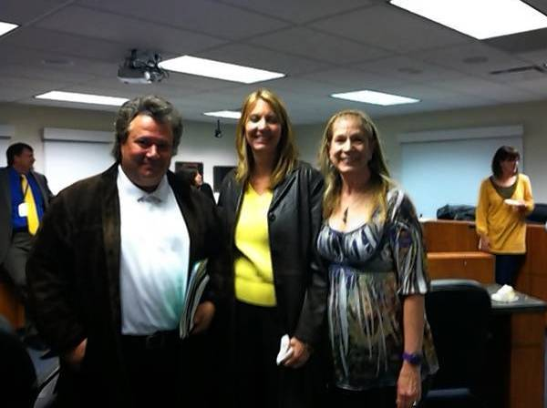 From left, Lou Gatta, Ghita Mueller and Jeanne Engelkemeir swore in as new members of the Board of Education for Hawthorn School District 73 Monday.