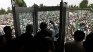 ISLAMABAD, Pakistan — For the second day in a row, a bomb blast killed and maimed participants at a campaign rally being held by one of Pakistan's Islamist religious parties, indicating a broadening of targets in the violence that has primarily taken aim at secular parties competing in parliamentary elections scheduled for Saturday.