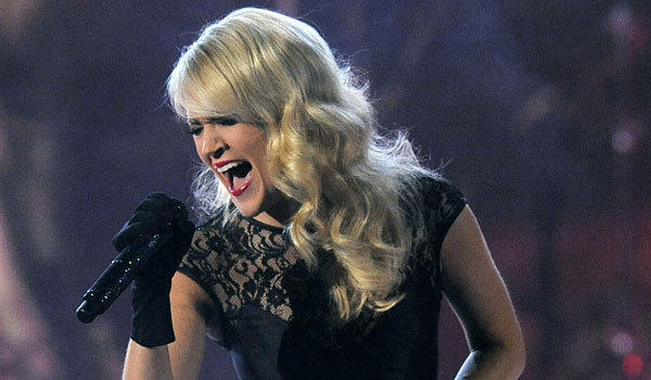 Carrie Underwood performs at the Academy of Country Music Awards.