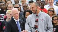 "Gov. Rick Scott praised Florida's public-school teachers Tuesday during a visit to Ocoee Middle School, one of five stops on his weeklong ""victory tour"" to celebrate teacher raises."