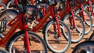 More than 250 bicycles would be available for short-term rentals at 25 stations throughout Baltimore by this time next year under a bike-sharing program similar to those in Washington and London, city officials said.