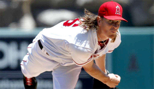 Jered Weaver, who suffered a fractured bone in his left elbow, could be back on the field for the Angels by late May or early June.