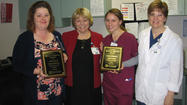 Karen Castle and Helena Burnette were named City Hospital's Quality Service Award winners for March.