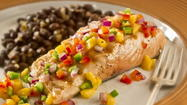 "The more the merrier in the Orlando Sentinel test kitchen! That's why we have teamed with the fabulous folks over at Orlando's WOMX Mix 105.1 to offer the morning show's Recipe of the Week. Today's recipe is Salmon With Mango Salsa & Black Beans. The sweet-tart taste of fresh mango salsa is an amiable companion to many a savory food. Hate cilantro? Skip it. Your mango a little tart? Cut back on the lime juice. Up the heat with more jalapeno. Bolster the salsa with chopped jicama or buttery Florida avocado (or both) and it becomes a salad unto itself. Every Wednesday, you can find more recipes picked exclusively for Scott McKenzie & the Morning Mix here and at <a href=""mix1051.com"">mix1051.com</a>."