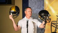 UCF coach George O'Leary confirmed the Knights are in the process of ordering alternate black helmets for the 2013 season.