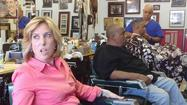 """Hi guys, long time no see,"" Wendy Greuel said, strolling into Tolliver's barbershop as if she were a regular."