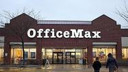 OfficeMax Inc. reported Tuesday that first-quarter sales declined more than 5 percent and earnings fell short of analyst expectations, sending shares down nearly 2 percent.
