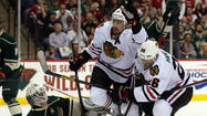 ST. PAUL, Minn. — Josh Harding stood in the crease and flexed his left leg while play continued moments after the Wild goaltender collided with Blackhawks center Jonathan Toews.