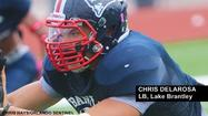 "<span style=""font-size: small;"">Lake Brantley linebacker <strong>Chris Delarosa</strong> has been making huge strides since last season, when he led the Patriots in tackles as a junior.</span>"