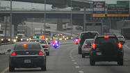 A motorcade of police vehicles escorting wounded military service members from the Walter Reed National Military Medical Center to New York City will cause roving lane closures on multiple area highways Wednesday morning, according to Baltimore Police.