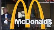 McDonald's Corp. reported a steeper-than-expected drop in April comparable sales, citing tough economic conditions around the world.