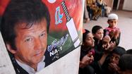 ISLAMABAD, Pakistan -- Imran Khan, the former cricket star who heads up one of the leading parties in national elections set for Saturday, suffered three fractured vertebrae and a broken rib in a fall in the eastern city of Lahore this week and probably will not be able to return to campaigning, doctors and party leaders said Wednesday.