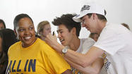IRVINE — Events such as Tuesday's NCAA title celebration on campus might be becoming familiar to the UC Irvine men's volleyball team. But if one wondered about complacency creeping in after the Anteaters claimed their second straight championship and fourth in the last seven seasons, one need only point to first-year head coach David Kniffin.