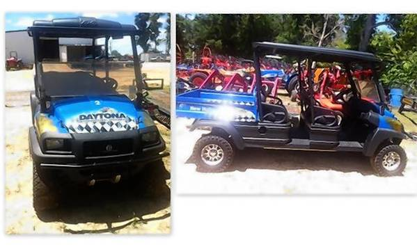 A Daytona themed golf cart is missing, according to the Marion County Sheriff's Office.
