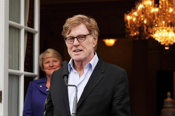 Founder and President of Sundance Institute Robert Redford speaks at the American Ambassador's reception during Sundance London earlier this year.
