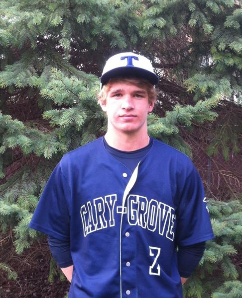 Matt Ewert, a catcher for Cary-Grove's baseball team, is skilled on both sides of the plate.