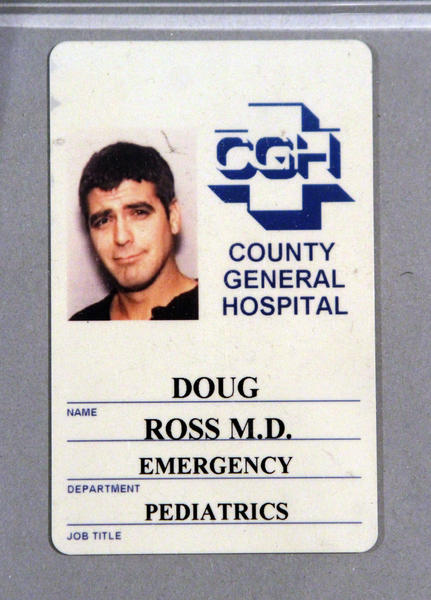 "Dr. Doug Ross, played by George Clooney in the TV show ""ER,"" is likely a high earner based on his short first name, according to a recent study."