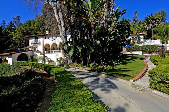 The Mediterranean-style home, built in 1932, sits on 3.3 acres.