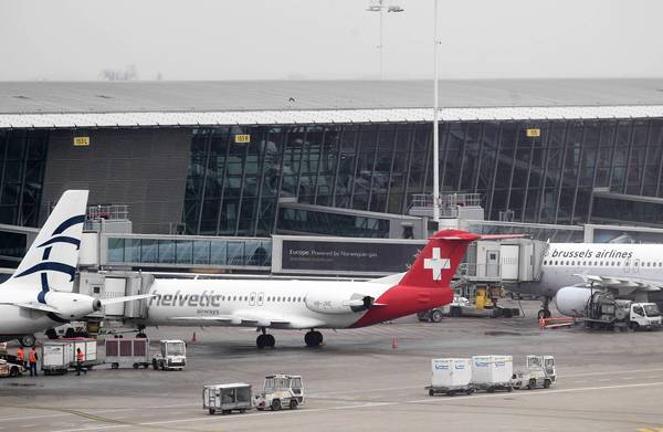 Thieves targeted this Helvetic Airways jet at Brussels Airport in February, making off with $50 million in diamonds in a lightning-fast strike.