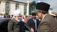 Just weeks after the terrorist bombings at the Boston Marathon, the global leader of the world's 10-million-plus Ahmadiyya Muslim Community has brought his religion's message of peace, public service and uplift to the faithful of Southern California.