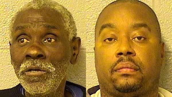 Booking photos of Albert Askew, left, and Jeffery Watson