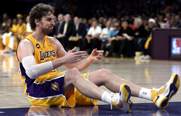 Lakers power forward Pau Gasol missed several games this season with injuries, including his aching knees.