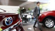 Riding a wave of increased auto sales, a weakening Japanese yen and a fresh lineup of vehicles, Toyota Motor's profits more than tripled during its most recent fiscal year.