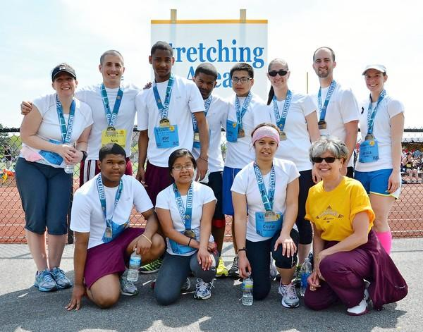 Eight students from Lincoln Leadership Academy in Allentown trained for and completed the St. Luke's half Marathon on April 28, gaining sponsorship from race organizer Lehigh Valley Road Runners and Aardvark Sports Shop.