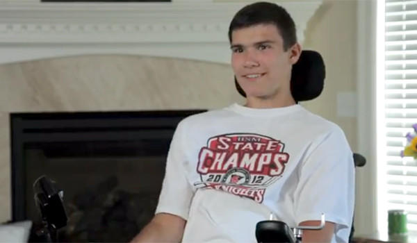Jack Jablonski, who was paralyzed by a check during a hockey game in 2011, was drafted by the United States Hockey League's Chicago Steel on Tuesday.
