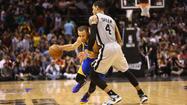 SAN ANTONIO -- Klay Thompson had a career-high 34 points, 29 in the first half, to give the Golden State Warriors a 100-91 win over the San Antonio Spurs in Game 2 of the Western Conference semifinals Wednesday night, tying up the series 1-1.