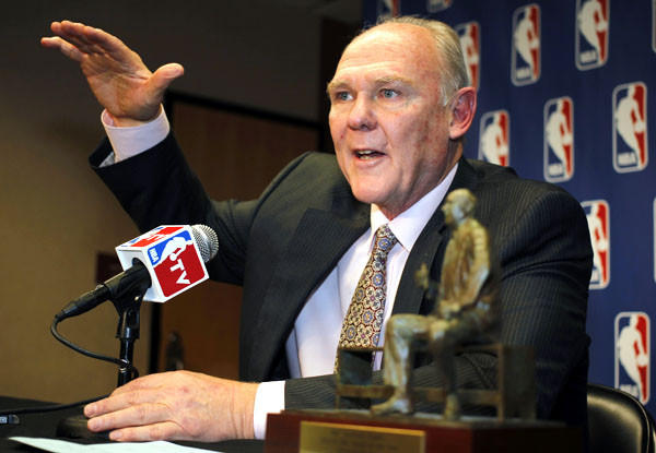 Nuggets Coach George Karl addresses the media Wednesday in Denver.