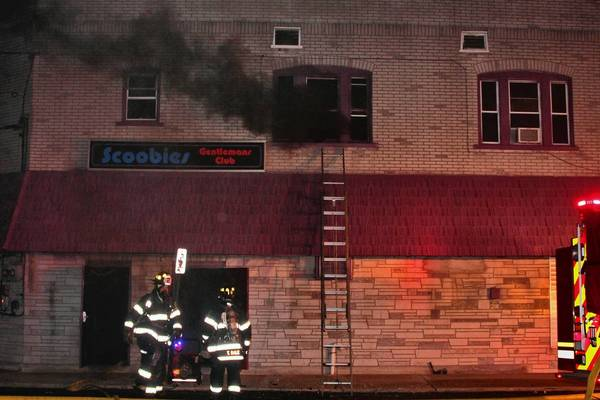 Scoobies Gentlemen's Club, which has been in the news recently because of a homicide outside the business in January, will be closed temporarily because of an early morning fire Wednesday. Allentown Fire Department quickly extinguished the first-floor fire, which was reported about 3 a.m.