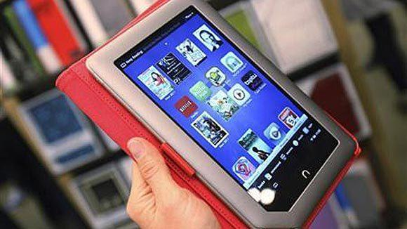 A Nook Tablet is seen during a demonstration in November 2011.